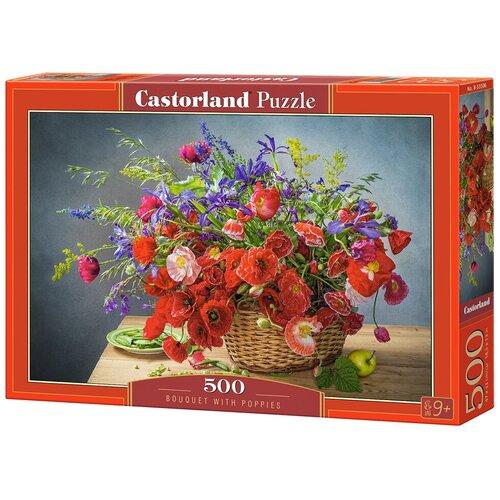 Фото - Пазл Castorland Bouquet with Poppies (B-53506), 500 дет. пазл castorland лето в альпах b 53360 500 дет