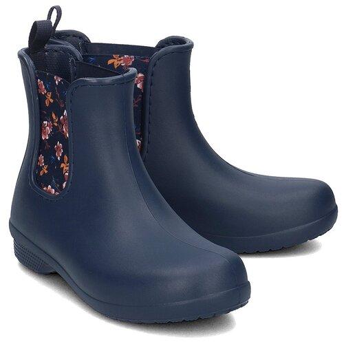 Резиновые полусапоги Crocs Women's Freesail Chelsea Boot, размер 35(W5), navy/floral