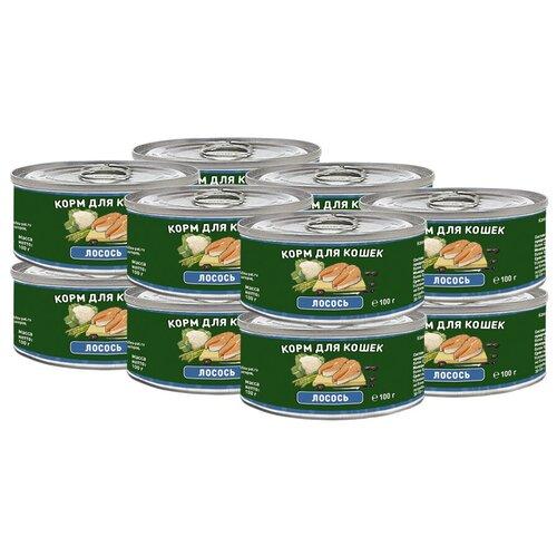Влажный корм для кошек Solid Natura беззерновой, с лососем 12 шт. х 100 г влажный корм для кошек solid natura беззерновой с говядиной 100 г