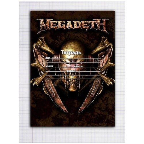 Купить Набор тетрадей 5 штук, 12 листов в клетку с рисунком Megadeth герб, Drabs, Тетради