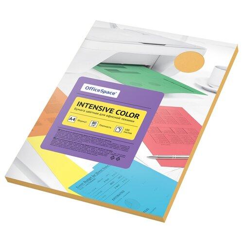 Бумага OfficeSpace A4 Intensive Color 80 г/м2 100 листов, оранжевый