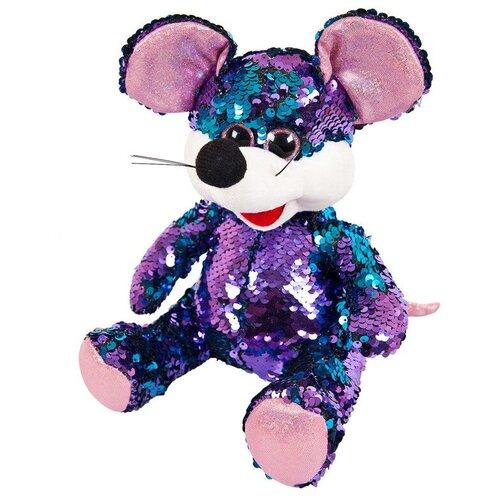 Купить Мягкая игрушка ABtoys Мышка с пайетками 20 см, Мягкие игрушки
