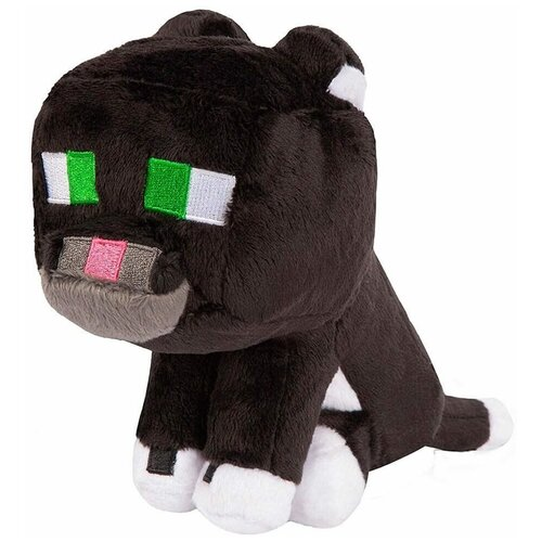 Мягкая игрушка MOJANG Плюшевый Дымчатый кот из Minecraft 23 см