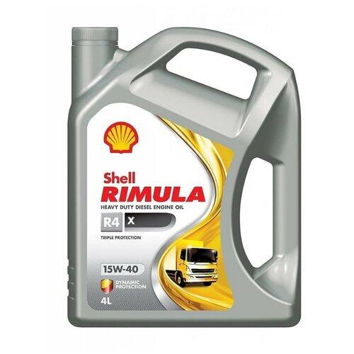 Фото - Минеральное моторное масло SHELL Rimula R4 X 15W-40 4 л минеральное моторное масло mannol universal 15w 40 4 л
