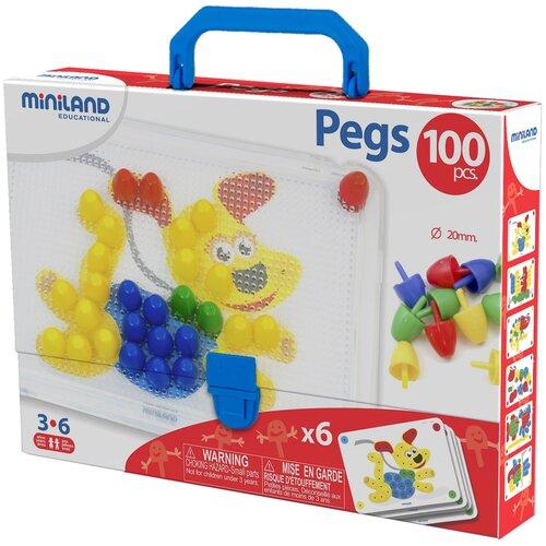 Miniland Мозаика Pegs 20 мм, 100 элементов (31806)