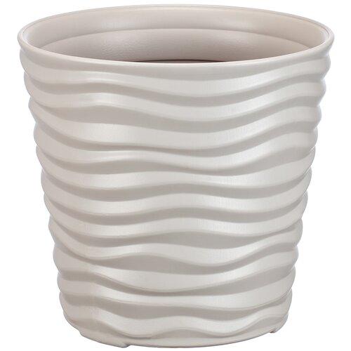 Кашпо IDEA (М-Пластика) Дюна 25.5 х 24 см кремовый по цене 634
