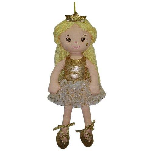 Фото - Мягкая игрушка ABtoys Кукла Принцесса в золотом платье 38 см мягкая игрушка abtoys кукла рыжая в голубом платье 20 см