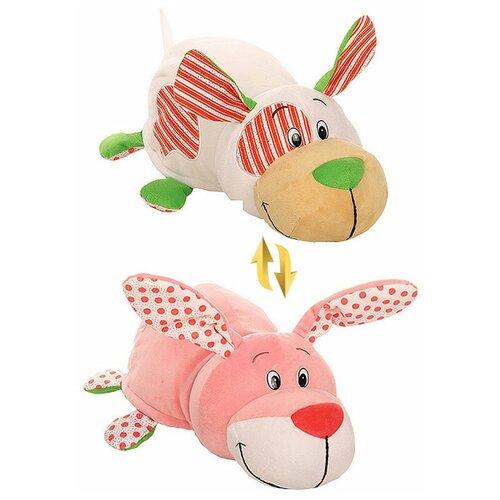Мягкая игрушка 1 TOY Вывернушка Ням-Ням Зайчик-Собачка с ароматом 35 см