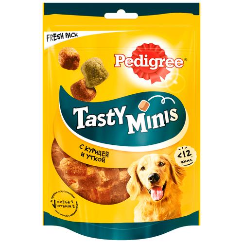 Фото - Лакомство для собак Pedigree Tasty Minis ароматные кусочки с курицей, 130 г pedigree pedigree ranchos лакомство для собак с говядиной 58 г