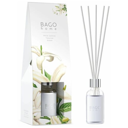 BAGO home диффузор Белый жасмин, 30 мл диффузор bago home мята и базилик 30 мл