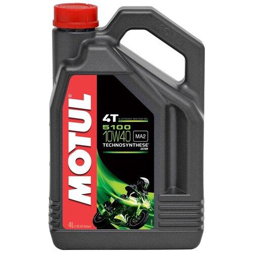 Фото - Полусинтетическое моторное масло Motul 5100 4T 10W40 4 л масло моторное полусинтетическое 4 тактное для лодочных двигателей motul outboard tech 4t 2л