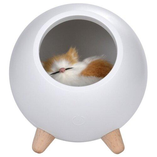 Ночник ROXY-KIDS My little pet house (R-NL0026), цвет арматуры: белый ночник проектор roxy kids colibri с совой r sa99b