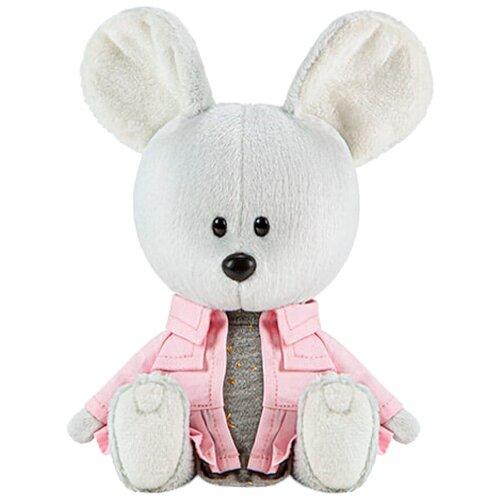 Фото - Мягкая игрушка Лесята Мышка Пшоня в сером платье и курточке 15 см мягкая игрушка лесята ёжик игоша в свитере 15 см