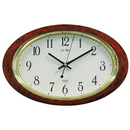 Часы настенные кварцевые La mer GD121 мрамор коричневый настенные часы la mer gd121 13