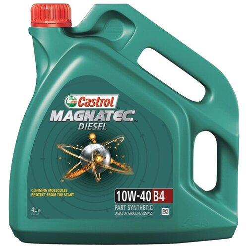 Фото - Полусинтетическое моторное масло Castrol Magnatec Diesel 10W-40 B4, 4 л полусинтетическое моторное масло castrol vecton 10w 40 7 л