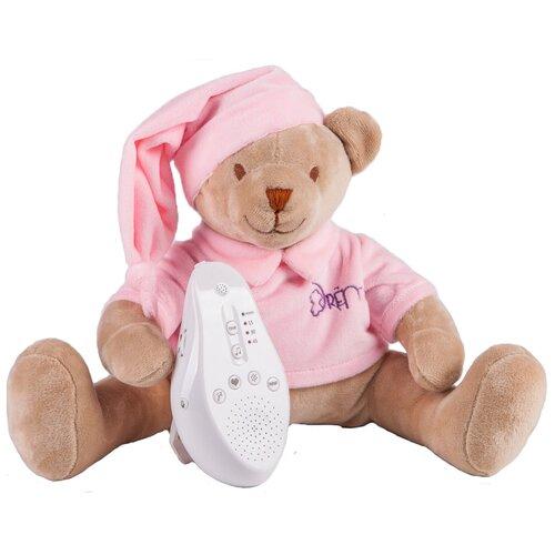 Фото - Мягкая игрушка Drёma BabyDou Мишка розовый с белым и розовым шумом комфортеры drema babydou медведь с белым и розовым шумом 20 см