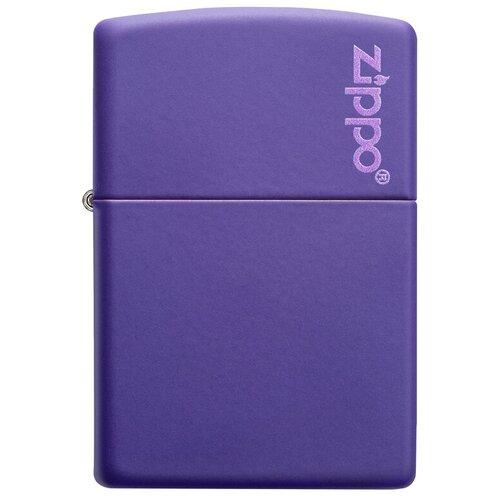 Zippo Classic зажигалка бензиновая Logo Purple Matte zippo classic зажигалка бензиновая gambling skull black matte