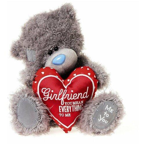 Мягкая игрушка Me to you Мишка Тедди с сердцем Girlfriend you mean everything to me 25 см