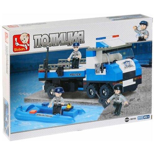 Конструктор SLUBAN Полицейский спецназ M38-B0186