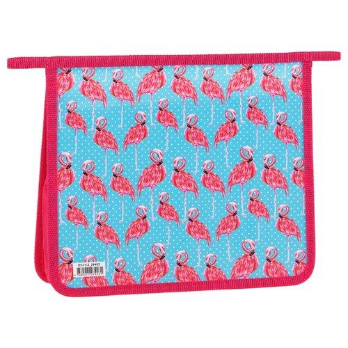 Купить ArtSpace Папка для тетрадей Фламинго, А5, пластик, на молнии розовый/голубой, Файлы и папки