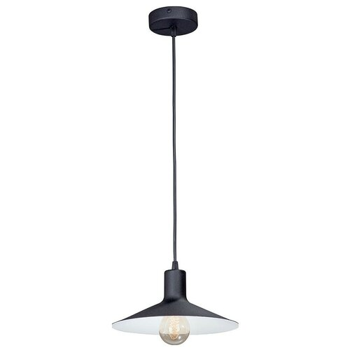 Фото - Потолочный светильник Vitaluce V4825-1/1S, E27, 40 Вт, кол-во ламп: 1 шт., цвет арматуры: черный, цвет плафона: черный светильник vitaluce v4849 1 1s e27 40 вт