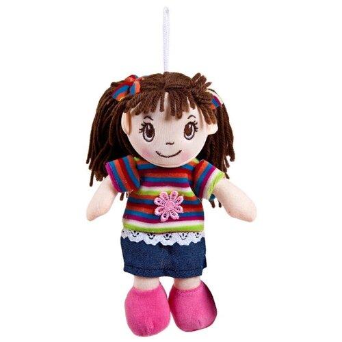 Фото - Мягкая игрушка ABtoys Кукла в платье в полоску 20 см мягкая игрушка abtoys кукла рыжая в голубом платье 20 см