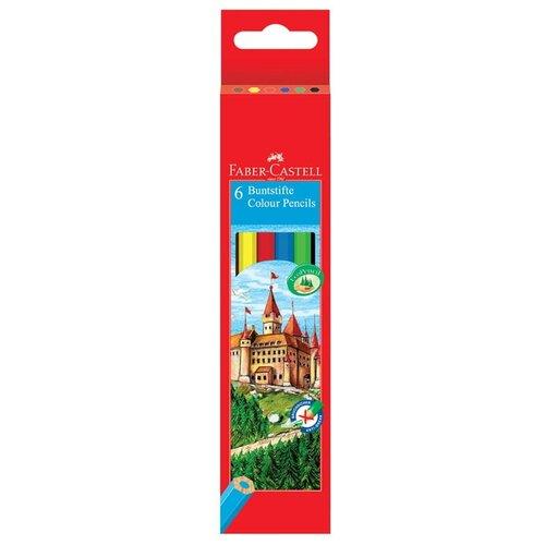 Купить Faber-Castell Карандаши цветные Замок 6 цветов (120106), Цветные карандаши