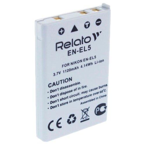 Фото - Аккумулятор Relato EN-EL5 для Nikon CoolPix 3700/4200/5200/5900/7900/P100/P3/P4/P50/P500/P5000/P510/P5100/P520/P530/P6000/P80/P90/S10 аккумулятор fb en el1 для nikon coolpix 4800 5000 5400 5700 8700