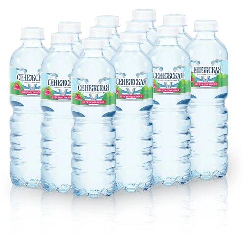 Вода Сенежская негазированная, ПЭТ, 12 шт. по 0.5 л вода минеральная сенежская негазированная пэт 1 5 л