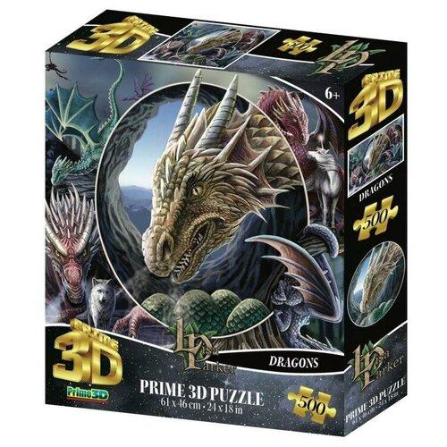 Купить Пазл Prime 3D Super Коллаж Драконы 500 элементов Prime 3D 32563-SBM, Пазлы