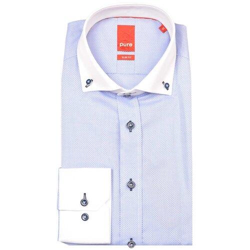 Рубашка pure размер XXL голубой/белый