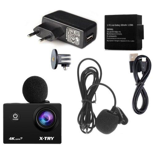 Фото - Экшн-камера X-TRY XTC185 EMR Battery + СЗУ 4K WiFi экшн камера r wings air 4k wifi rwc001