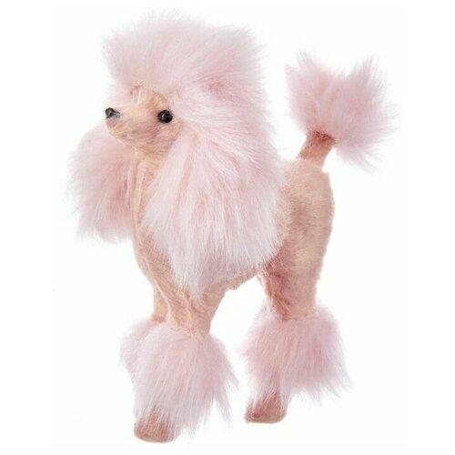 Фото - Ёлочная игрушка гламурный пудель, розовый, 12.7 см, Kurts Adler ёлочная игрушка кошечка делфтский фарфор 10 см разные модели kurts adler j0936