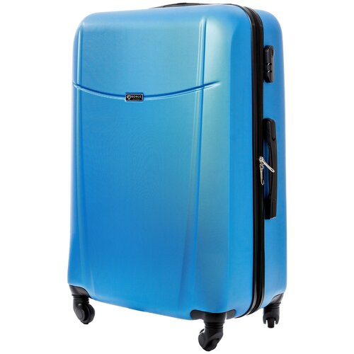 чемодан bonle премиум abs пластик салатовый размер s 55 см 37 л Чемодан Bonle, премиум ABS-пластик, Голубой, размер L, 75,5 см, 91 л