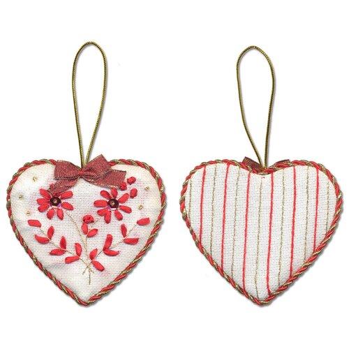 Купить Набор для вышивания PANNA IG-1274 ( ИГ-1274 ) Новогодняя игрушкаСердечко 1 шт., Наборы для вышивания
