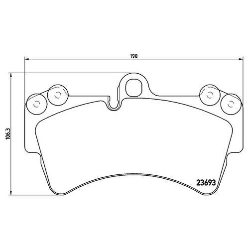 Дисковые тормозные колодки передние Textar 2369302 для Audi Q7, Porsche Cayenne, Volkswagen Touareg (4 шт.)