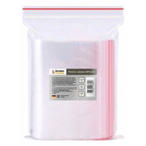 Пакеты Zip Lock 15х20 см, 100 шт. Упаковочные Зип Лок пакеты с замком для заморозки и хранения продуктов, фасовочные, пищевые, прозрачные, полиэтиленовые с застежкой