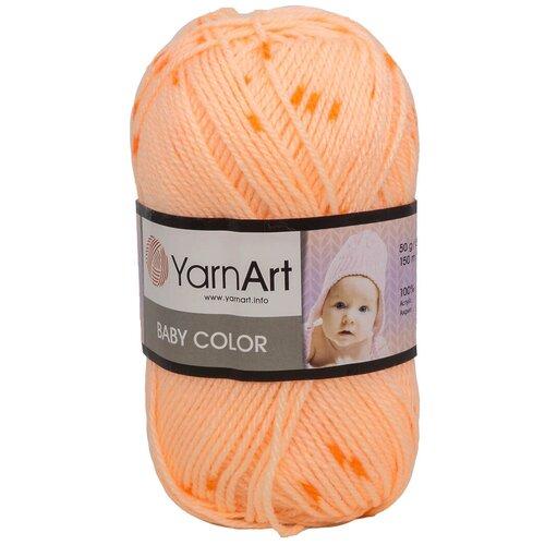 Фото - Пряжа YarnArt 'Baby color' 50гр 150м (100% акрил) (272 принт), 5 мотков пряжа yarnart baby 50гр 150м 100% акрил 1182 коричневый 5 мотков