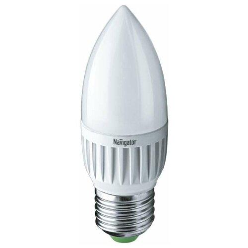 Лампа светодиодная 94 483 NLL-P-C37-5-230-4K-E27-FR 5Вт свеча 4000К бел. E27 370лм 220-240В Navigator 94483 (упаковка 10 шт)