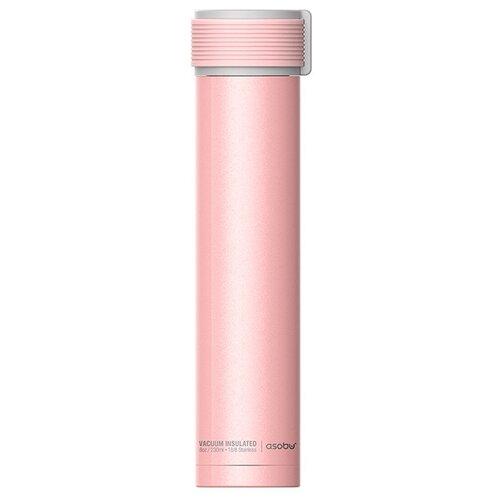 Фото - Термобутылка asobu Skinny mini (0.23 л) розовый термобутылка asobu central park travel bottle 0 51 л медный серебристый