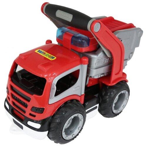 Пожарный автомобиль Wader ГрипТрак (0872) в сетке 28 см красный машины wader базик автомобиль пожарный