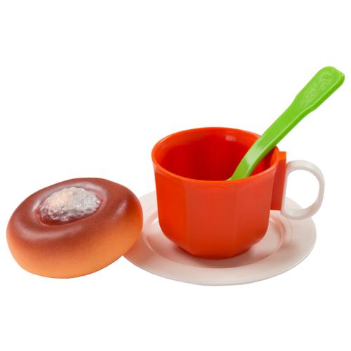 Купить Набор продуктов с посудой ОГОНЁК Чайный набор с ватрушкой C-1382 разноцветный, Игрушечная еда и посуда