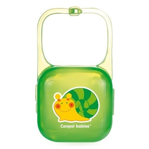 аксессуары для пустышек lubby футляр для пустышек Футляр для пустышек Canpol Babies Happy Garden 0 м (1 шт.) зеленый