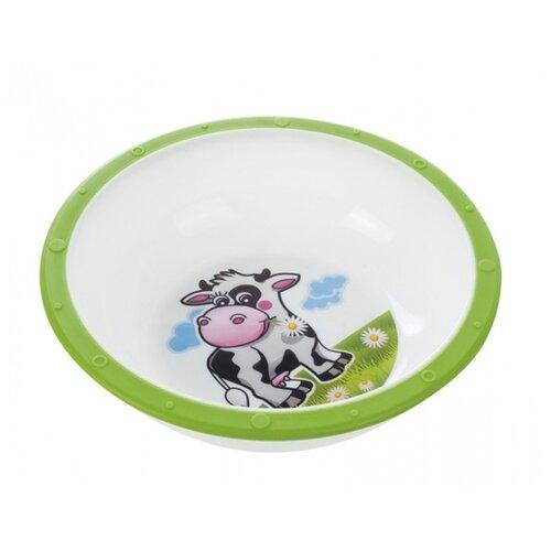 Купить Тарелка Canpol Babies Little cow (4/416) коровка зеленая, Посуда