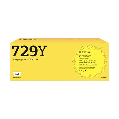 Фото - Картридж T2 TC-C729Y, совместимый картридж t2 tc c054h m совместимый