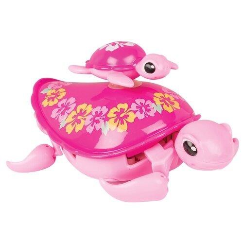 Купить Робот Moose Little Live Pets Черепашка с малышом 28415 розовый, Роботы и трансформеры