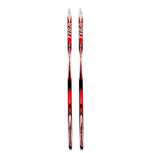 Беговые лыжи Tisa Sport Wax красный/белый 205 см беговые лыжи tisa sport step красный черный белый 192 см