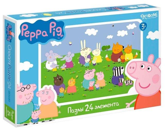 Пазл Origami Peppa Pig Дружные семьи (01570), 24 дет.