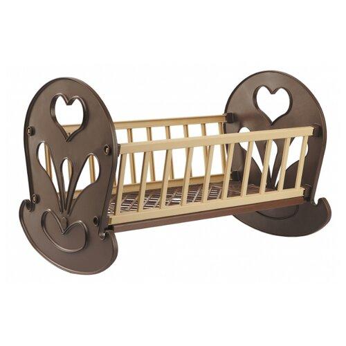 Купить ОГОНЁК Кровать-качалка (С-250) коричневая, Мебель для кукол