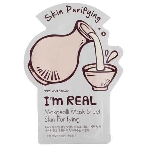 цена на TONY MOLY тканевая маска I'm Real Makgeolli очищающая, 21 г